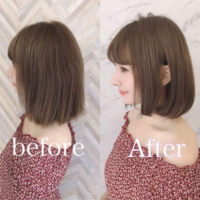 髪質改善ビフォアアフター